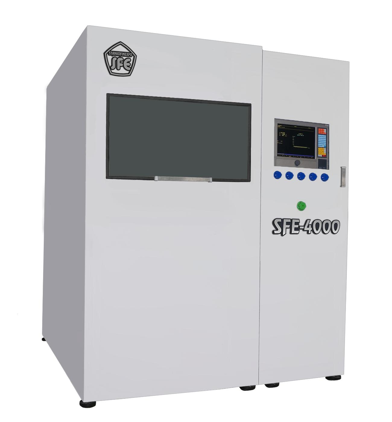 Установка Электрохимического удаления заусенец SFE-4000.